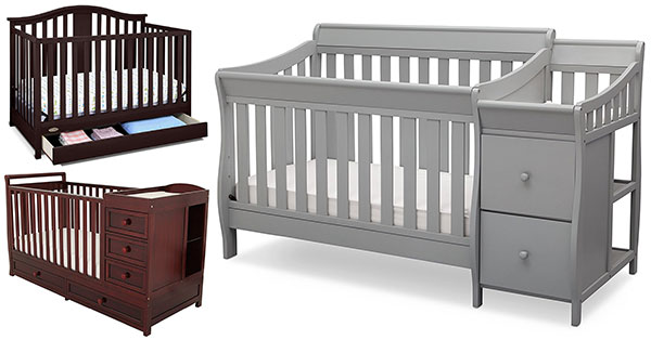 Baby Crib With Changing Table And Dresser Attached