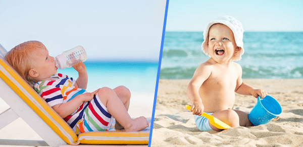 Baby skin care in summer