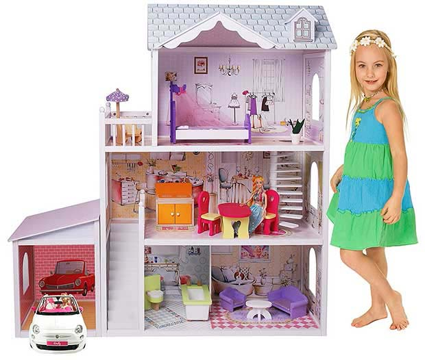 MMP Living Contemporary Wooden Doll House